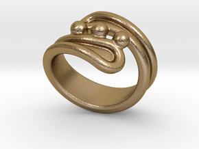 Threebubblesring 31 - Italian Size 31 in Polished Gold Steel