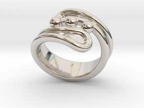 Threebubblesring 33 - Italian Size 33 in Rhodium Plated Brass