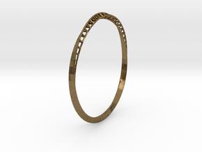 Mobius Bangle in Natural Bronze