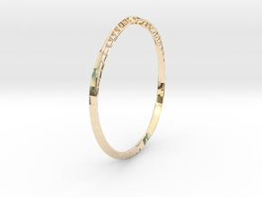 Mobius Bangle in 14k Gold Plated Brass