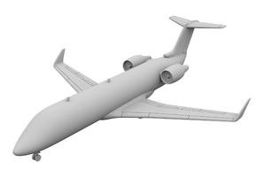 1:500 - CRJ_100 [Sprue] in Smooth Fine Detail Plastic