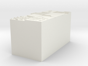"BK-02: ""BK2STMAPSTAMP"" by Once-Future Office in White Natural Versatile Plastic"