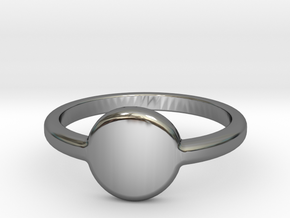 Ring with your initials in Fine Detail Polished Silver