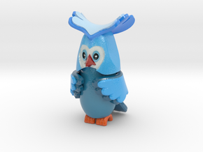 uv_owl-10cm in Glossy Full Color Sandstone