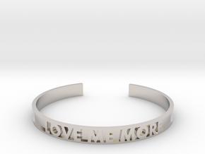 LOVE ME MORE cuff bracelet in Rhodium Plated Brass