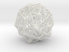 6D cube stellation in White Natural Versatile Plastic