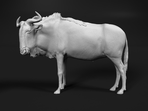 Blue Wildebeest 1:87 Standing Male in Smooth Fine Detail Plastic