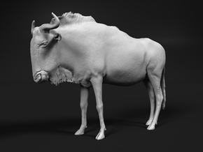 Blue Wildebeest 1:16 Standing Female in White Natural Versatile Plastic