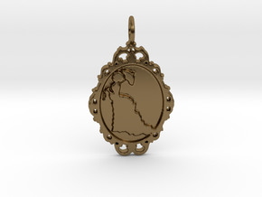Victorian Cameo / Valentine's gift in Polished Bronze