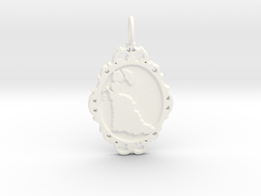 Victorian Cameo / Valentine's gift in White Processed Versatile Plastic