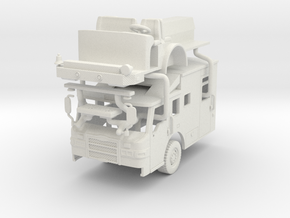 1/87 Pierce Velocity Medical Transport cab in White Natural Versatile Plastic