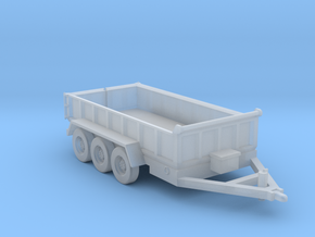 14-Foot Tridem Dump Trailer- Towing in Smooth Fine Detail Plastic