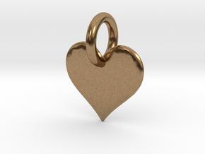 little heart in Natural Brass