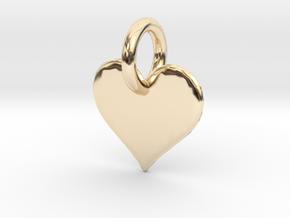 little heart in 14k Gold Plated Brass