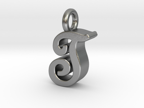T - Pendant 3mm thk. in Natural Silver