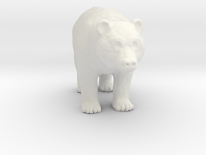 Printle Thing Bear - 1/48 in White Natural Versatile Plastic