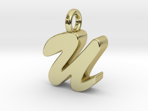 U - Pendant 3mm thk. in 18k Gold Plated