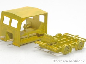 S Scale - Fairmont S2 Speeder Car in Smooth Fine Detail Plastic