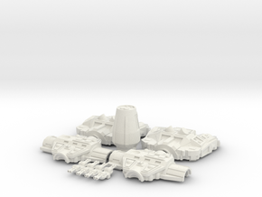 1/1000 Corellian Gunship DP-20c in White Natural Versatile Plastic