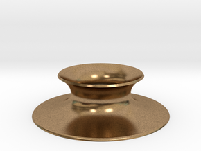 "The Universe Sphere Base ""Round"" in Natural Brass"