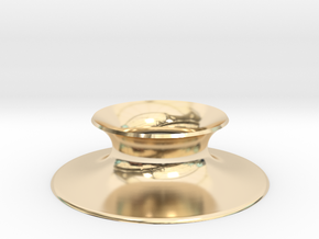 """The Universe Sphere Base """"Round"""" in 14k Gold Plated Brass"""