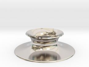 """The Universe Sphere Base """"Round"""" in Rhodium Plated Brass"""