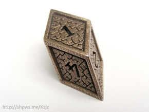 Hedron D6 (Hollow), balanced gaming die in Stainless Steel