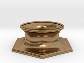 """The Universe Sphere Base """"Hexagon"""" in Natural Brass"""