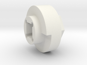 DX4 wheel adapter BS=16mm in White Strong & Flexible