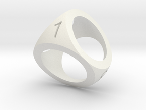 D4 Shell Dice in White Premium Versatile Plastic