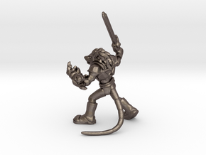 Ch'dar-O Lord of the ThunderRats in Polished Bronzed Silver Steel: Extra Small