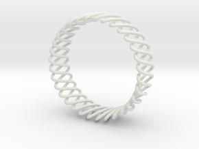 Spring Bracelet in White Premium Versatile Plastic