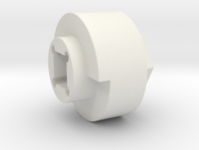 DX4 wheel adapter BS=19mm in White Strong & Flexible