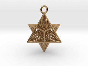 Pendant_Star of Life in Polished Brass