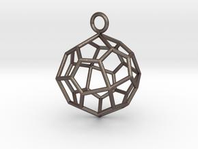Pendant_Pentagonal-Icositetrahedron in Polished Bronzed Silver Steel
