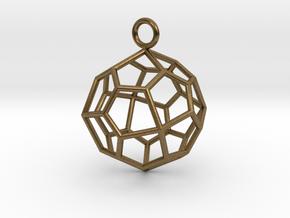 Pendant_Pentagonal-Icositetrahedron in Natural Bronze