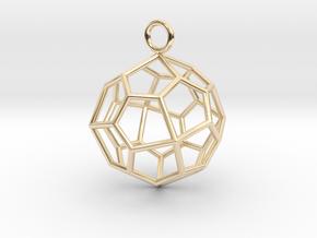 Pendant_Pentagonal-Icositetrahedron in 14K Yellow Gold