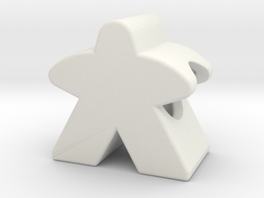 Meeple Charm in White Premium Strong & Flexible