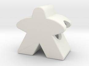 Meeple Charm in White Premium Versatile Plastic