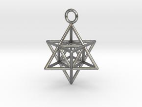Pendant_Merkaba-Triforce in Natural Silver