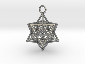 Pendant_Cuboctahedron-Star in Natural Silver