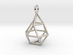 Pendant_Cuboctahedron-Droplet in Platinum