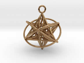 Pendant_Orbital-Merkaba in Polished Brass