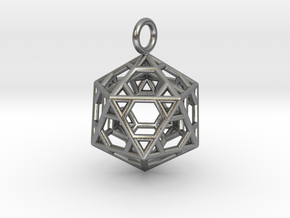 Pendant_Hexagonal-Icosahedron in Natural Silver