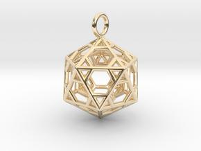 Pendant_Hexagonal-Icosahedron in 14K Yellow Gold