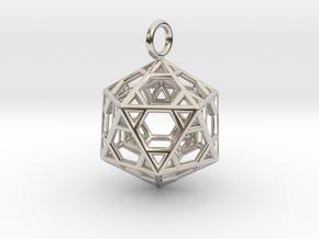 Pendant_Hexagonal-Icosahedron in Platinum