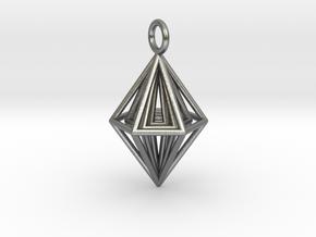 Pendant_Tripyramid in Natural Silver