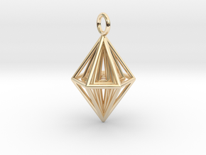 Pendant_Tripyramid in 14K Yellow Gold