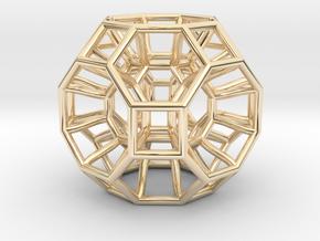 Pendant_468-Medium in 14k Gold Plated Brass