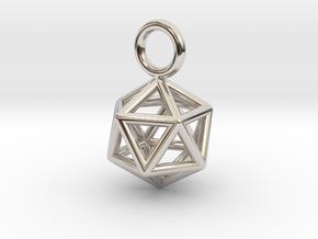 Pendant_Icosahedron-Small in Platinum